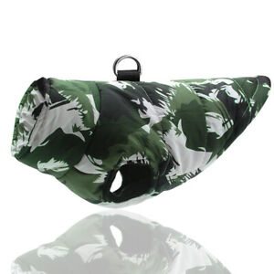 Camo Print Winter Dog Coat Jacket Warm Vest Clothes for Small Large Dogs S-6XL