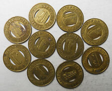 Lot of ten (10) City of Terre Haute (Indiana) transit tokens - IN890F
