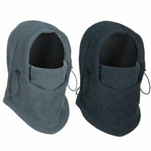 Winter Thermal Fleece Scarf Ski Face Cover Neck Warmer Snood Hood Balaclava Hat