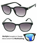 Classic Round Progressive Reading Sunglasses 3 Power Strengths in 1 Reader UV400