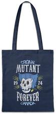 Mutant Forever Shopper Shopping Bag Gaming Fun Games Gamer Skull Wolverine