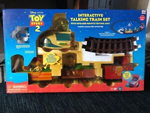 Disney's TOY STORY 2 Deluxe Talking Remote Control TRAIN SET, RARE-NEW