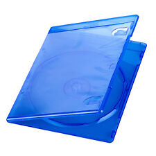 7mm Ultra Thin Blu Ray Logo Plastic Blue Case Holder For One Disc Storage Cover