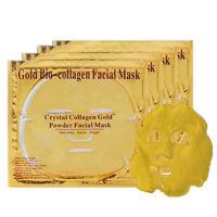 HN- CW_ GOLD Collagen Mask Face Sheets Peel Bio Crystal Anti Wrinkle Aging Facia