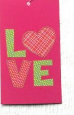 250 Hang Tags Boutique Tags Price Tags Pink Green Love Accessories Tags