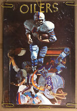 Original Vintage Poster Nfl Football Memorabilia Sports Pin Up Houston Oilers
