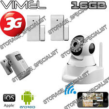 House Security Camera 3G GSM Wireless Alarm System PIR Remote Monitoring phone