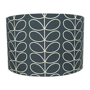 Lampshade Handmade Orla Kiely Linear Stem Cool Grey Fabric * FREE DELIVERY