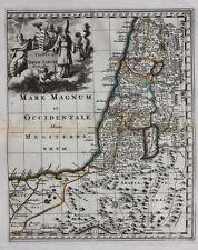 Original antique map HOLY LAND 'TOTIUS TERRAE SANCTAE DELINEATIO' Cluver c.1697