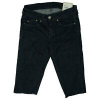Pepe Jeans Damen Sommer stertch 3/4 Hose Short Bermuda Capri W27 Dunkelblau NEU