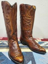 Vintage Womens ACME Sz 5 Brown Tan Leather Cowboy Boots -GREAT- RARE - 1973 70s