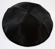 Lot of 3 BLACK Satin Kippah Jewish Kippa Kipa Yarmulke Israel Hat High Quality