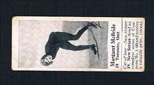 1926 Dominion Chocolate Sports Card #19 Margaret McBride (Skating)