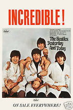 British Invasion: The Beatles * Butcher Cover * Capitol Ad Poster 1966 13 x 19