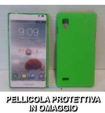 Pellicola + custodia BACK cover RIGIDA VERDE per LG Optimus L9 P760