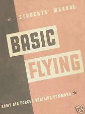 VULTEE BT-13 VALIANT - STUDENTS' MANUAL,  BASIC FLYING