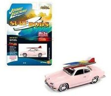 "1965 VOLKSWAGEN KARMANN GHIA PINK ""SURF RODS"" 1/64 JOHNNY LIGHTNING JLCP7024"