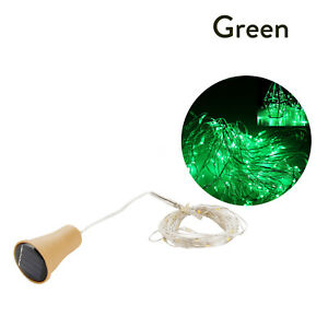 10/15/20 LED Solar Copper Cork Wire String Lights Wine Bottle Xmas Decor Lamp SS