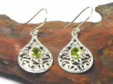 PERIDOT   Sterling  Silver  925  Gemstone  Earrings  -  Gift  Boxed!