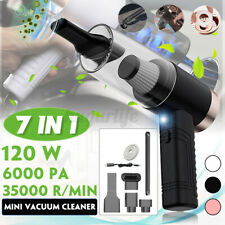 More details for 7-in-1 led cordless air blower air duster 6000pa 35000 r/min car home cleaner
