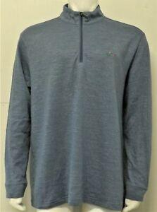Mens Greg Norman 1/4 Zip Pullover Golf Sweater (XXL) Light Navy F6519