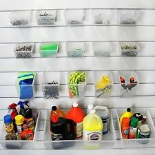 Probin Storage Bin Kit -for Proslat PVC Slatwall, Garage Pantry Tools 18-Piece