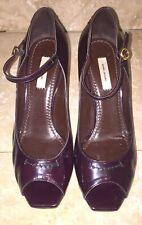 Marc Jacobs Burgundy Patent Leather, Peep Toe, Mary Jane Heels, Size 38