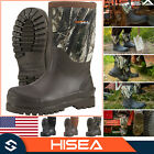 HISEA Men's Boots Mid-Calf Working Boots Insulated Rain, Snow Muck Hunting Boots