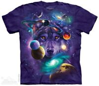 Wolf Of The Cosmos T-Shirt by The Mountain. Universe Planets Sizes S-5XL NEW