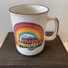 Vintage Six Flags Magic Mountain Mug Rainbow