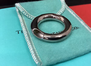 TIFFANY & CO. Frank Gehry Sterling Silver Ebony Tube Pendant ONLY