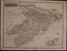 1820 LARGE DATED MAP LINLITHGOWSHIRE JOHN THOMSON ATLAS of SCOTLAND LINLITHGOW