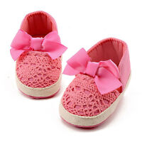 Newborn Baby Girls Soft Sole Crib Sneakers Kids Knitted Ballet Prewalker Shoes