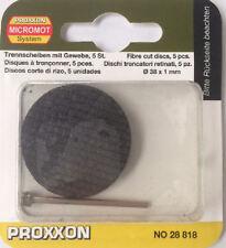 Proxxon 5 x Aluminium Oxide cutting discs 38mm 28818 / Direct from RDGTools