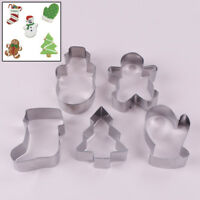 3D christmas scenario cookie cutter set snowman tree mold tools biscuit mould FG