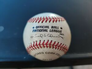 MLB Rawlings Official National League Baseball Leonard. Signed by Pete Rose A4
