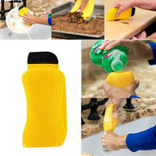 3In1 Washing Sponge Scrubber Silicone Multi-Function Kitchen Brush Tool Cleaning