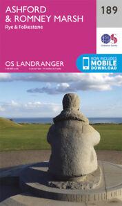 Ashford & Romney Marsh Rye & Folkestone Landranger Map 189 Ordnance Survey Lates