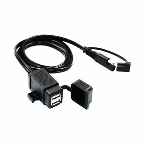MOTOPOWER MP0609C 3.1Amp Waterproof Motorcycle Dual USB Charger Kit SAE to US...