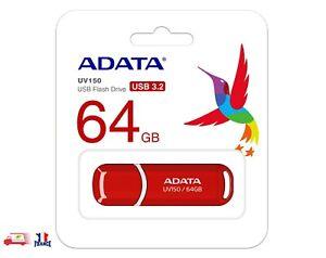 Clé USB 64 Go USB Type-A 3.2 Gen 1 ADATA UV150 Rouge