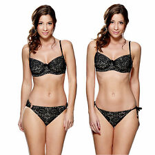 Lepel Summer Days Underwired Bikini Top or Brief Black Sizes 32-38 B-G
