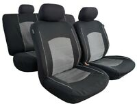 Carbon Jacquard Airbag Seat Covers Full Set For Toyota Hilux Dual Cab 2006-2019