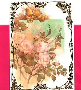 Happy Valentine's Day Angel Bears Angels Bear Theme Greeting Card