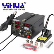 3in1 YIHUA 853D 1A DC POWER SUPPLY HOT AIR GUN SOLDERING REWORK STATION AU