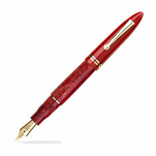 Leonardo Furore Fountain Pen - Red Passion, Gold Trim - Medium Steel Nib
