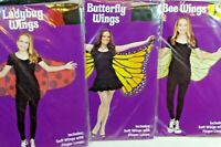 Butterfly, Bumble Bee or Lady Bug  costume Soft Wings  New