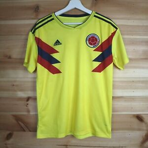 Adidas Colombia Football Shirt Home Shirt Jersey Large 2018-2019