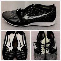 Nike AIR MAX Flyknit Racer Black White Oreo Volt Running Shoes 526628-011 SZ 12