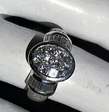 Designer Estate 18k 750 W/Gold Diamond Ring Channel Invisibly Set Princess 2 ct