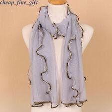Gold Glitter Shimmer Long Scarf Mesh Hijab Head Wrap Plain Muslim Scarves Shawls